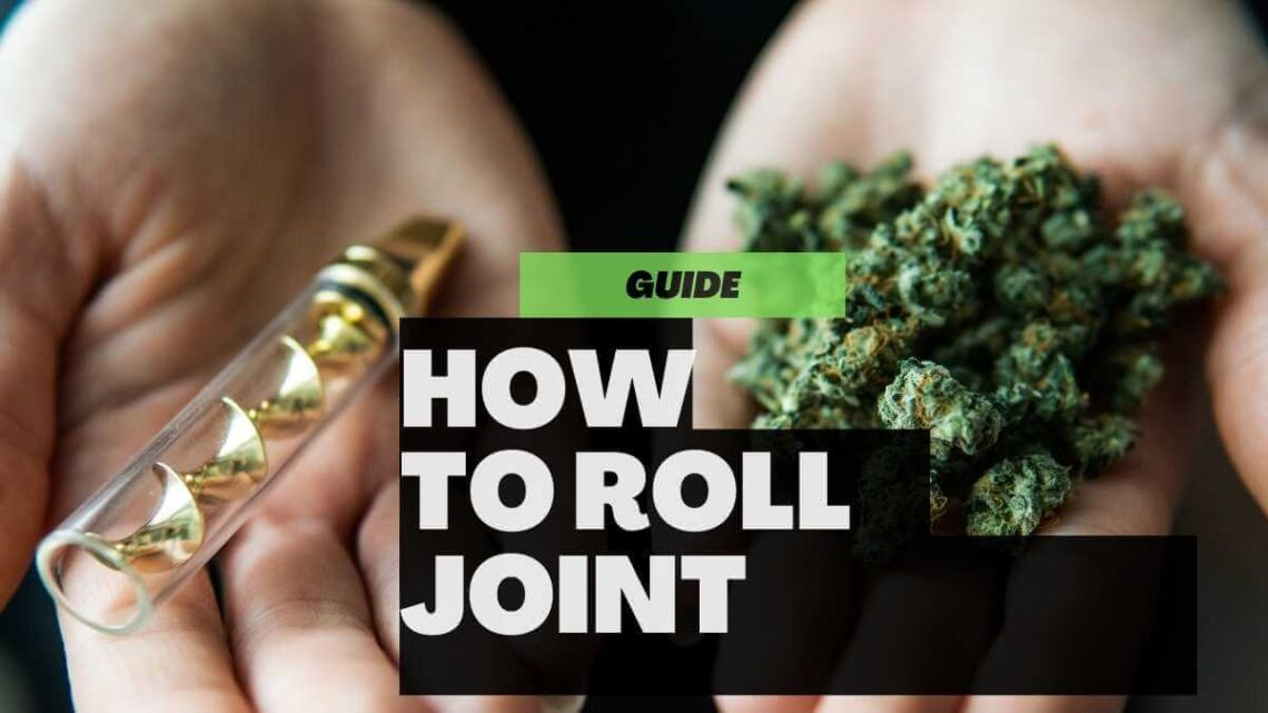How to Roll a Joint perfectly close up and all smoking accessories